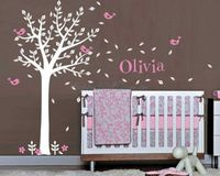 G223 Handmade Wall Stickers Baby Nursery Tree Wall Decal Kids Room Decors Children