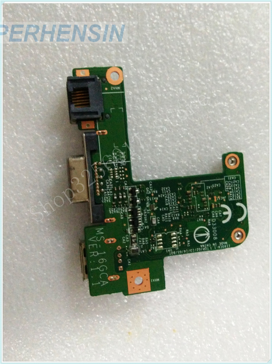 все цены на Original Genuine laptop FOR MSI FOR GE60 MS-16GC1 MS-16GC VGA USB WLAN BOARD MS-16GCA онлайн