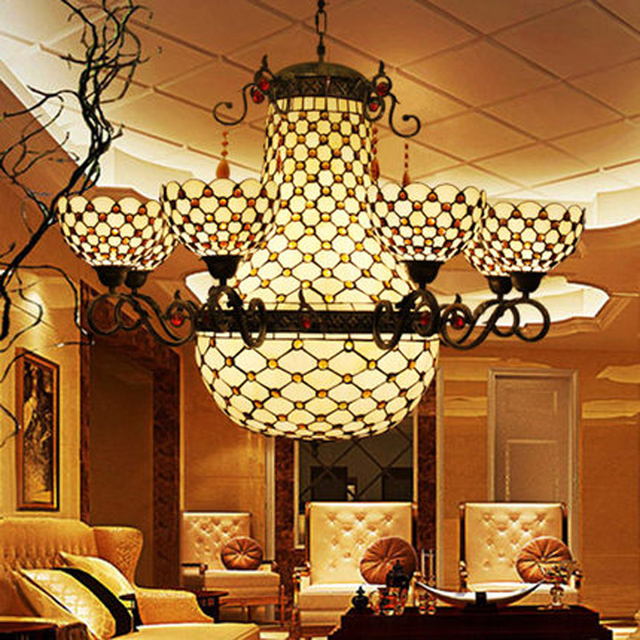 Charmant FUMAT Chandeliers Stained Glass Lights Fixtures Pendant Lamp For Bedroom  Rose Flower Lights 6 Heads E27
