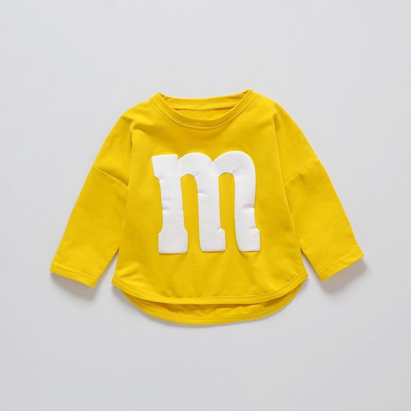 Neueste Kollektion Von Baby Sweatshirts Frühling Herbst Kind Cartoon Schokolade Bean Druck Pullover Kinder Langarm T-shirt Casual Kleidung üPpiges Design
