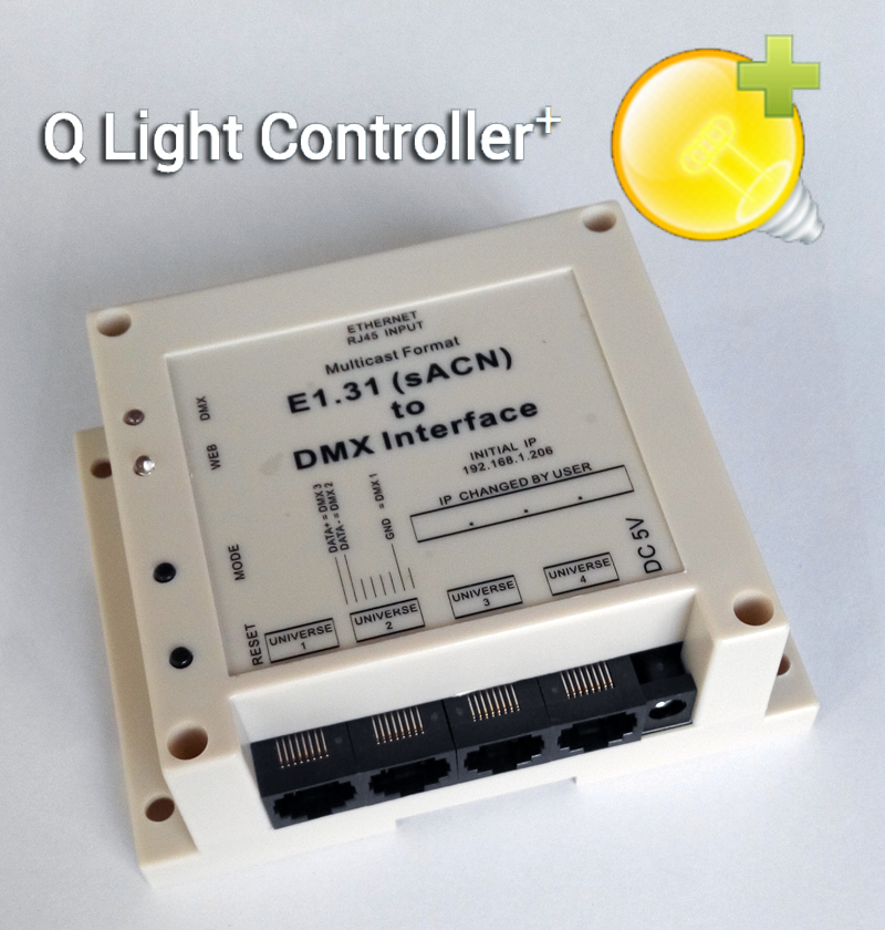 Perfect for QLC+ ( Q Light Controller) QLC, E1.31 (sACN) Multicast to DMX Interface with 4 universes output. Max 2048 channels dmx512 digital display 24ch dmx address controller dc5v 24v each ch max 3a 8 groups rgb controller