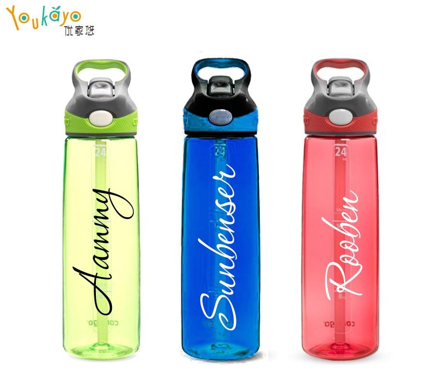 Princess Custom Sticker Water Bottle stickers Sports Drink Vinyl