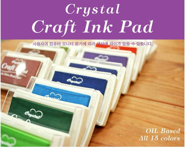 15 Colors DIY Crystal Craft Ink Pad Set for Rubber Stamps Oil Based Finger Print Nice Colorful Inkpad Scrapbooking Decoration 20 colors can choose diy scrapbooking vintage crafts ink pad colorful inkpad stamps sealing decoration stamp