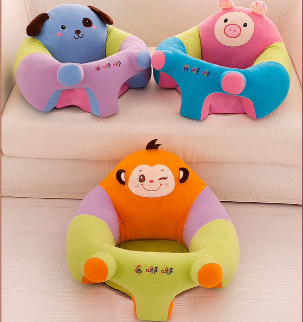 Hot Sale Soft Lovely Cute Safe High Quality Plush PP Baby Seats Sofa Chair  For Baby
