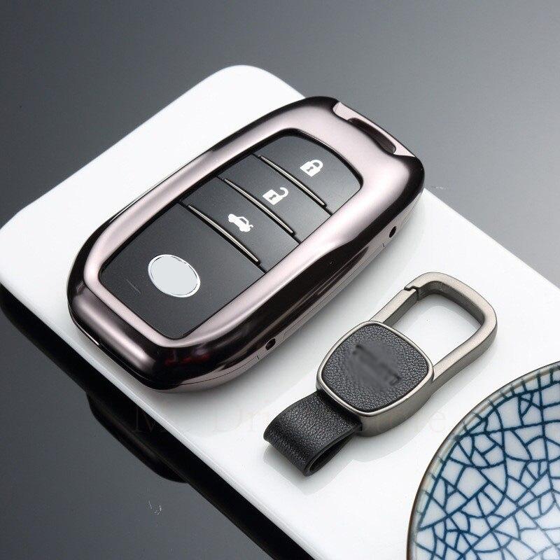 For Toyota Crown Key Case Cover For Prado Camry Corolla Reiz LEVIN Chr Land cruiser 200 Avensis Auris Prius Remote Key Shell