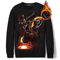 Death Skull cotton Men's Sweatshirts Fashion League long sleeve Men Hip Hop Casual 3D Hoodies Sweatshirts high quality mens Swea