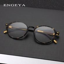 7b35b25b718f ENGEYA 2017 Round TR90 Eyewear Frames Women Men Computer Myopia Super Light  Prescription Optical Glasses Frame