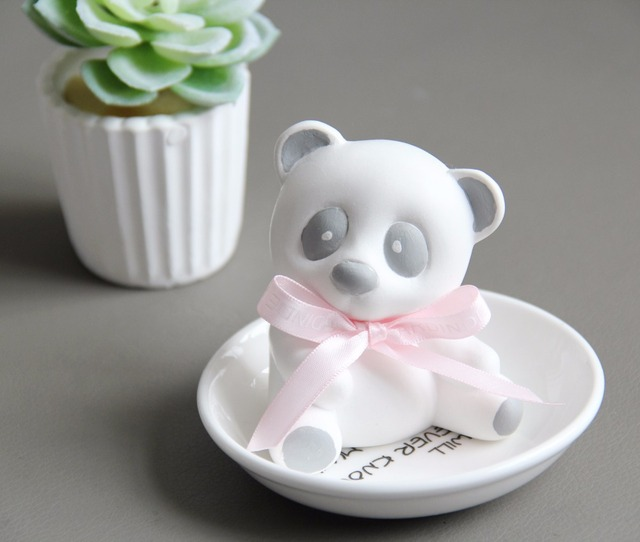 panda DIY Silicone soap mold handmade soap molds silica gel panda Aroma stone moulds candle mould cake decorations panda  tools