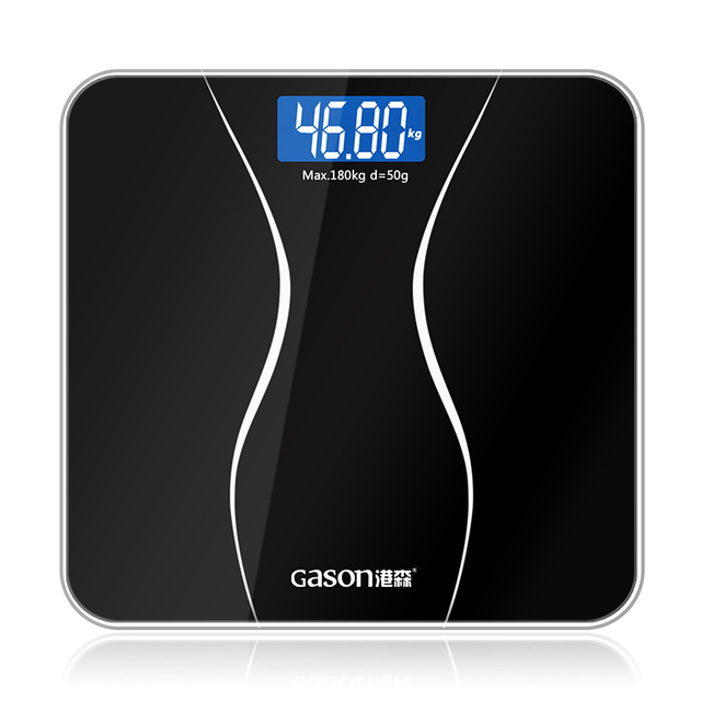 GASON A2 Bathroom Floor Body Scale Glass Smart Household Electronic Digital Weight Balance Bariatric LCD Display 180KG/50G 2