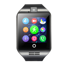 Bluetooth Q18 Sensible Watch with OGS capacitive contact display screen digital camera helps TF Android good cellphone good watch
