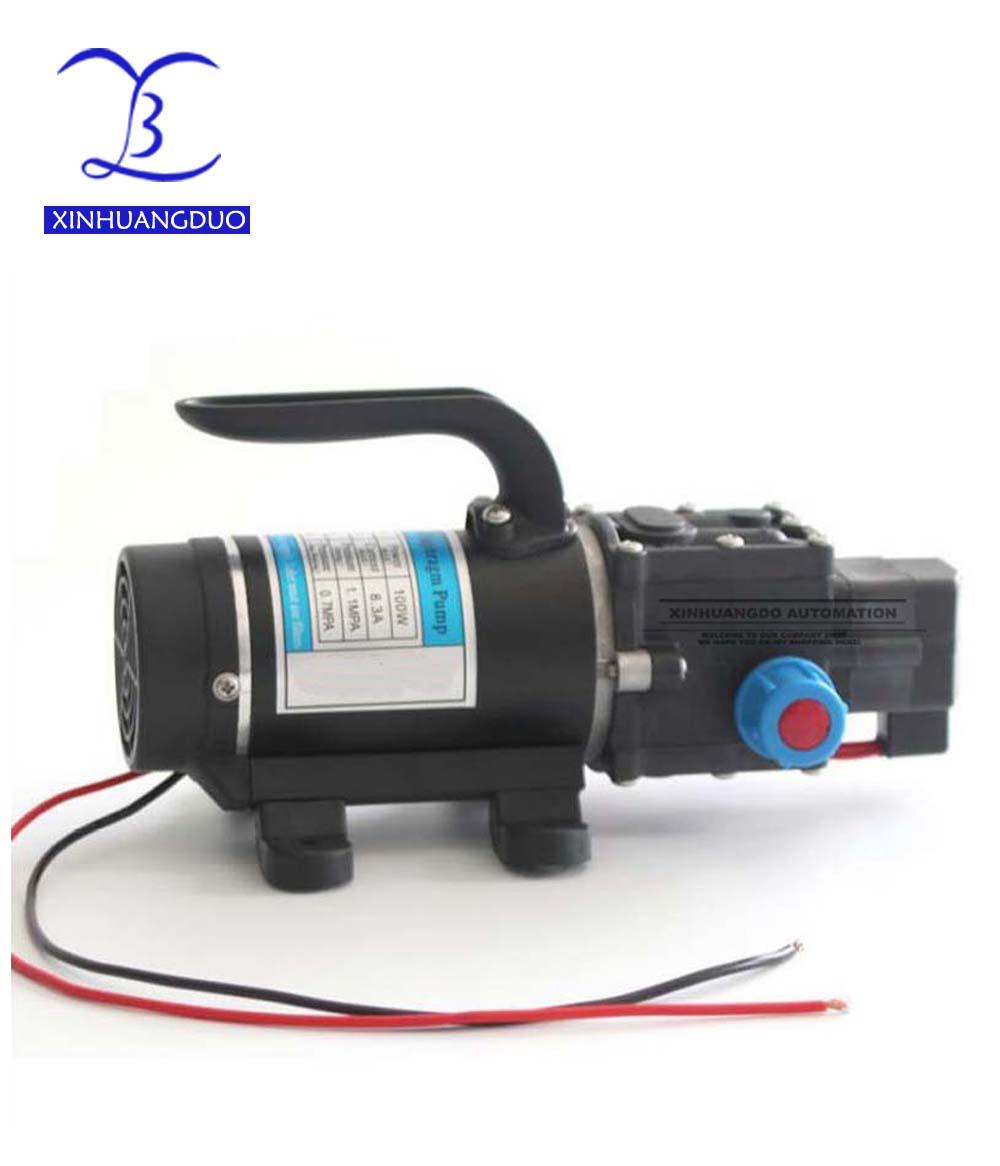 100 w 8L/min Avec ventilateur automatique pression commutateur portable haute pression auto amorçage mini dc 12 volts diaphragme pompes à eau spraye