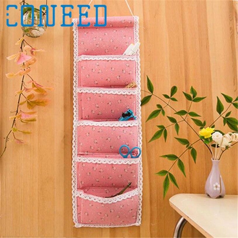 Coneed organizer 5 Pocket Wall Hanger Hanging Bag Door Wall Holder Shoe Storage Organizer Closet Random color IT6531 DROP SHIP