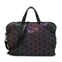 2019 new design M noctilucent women briefcase PU leather geometric S ladies strap handbags diamond lattice plaid OL business bag