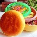 PP 1000 mL Dupla Camada Crianças Hamburger Bento Lunch Box Recipiente de Armazenamento Recipiente de Alimento com Garfo Colher Lancheira Bento PTSP
