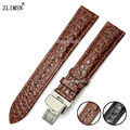 18mm 20mm New Brown Belt Short Crocodile grain Genuine Leather Watch Band strap Men Women Watch Watches Relojes Hombre 2016 H78
