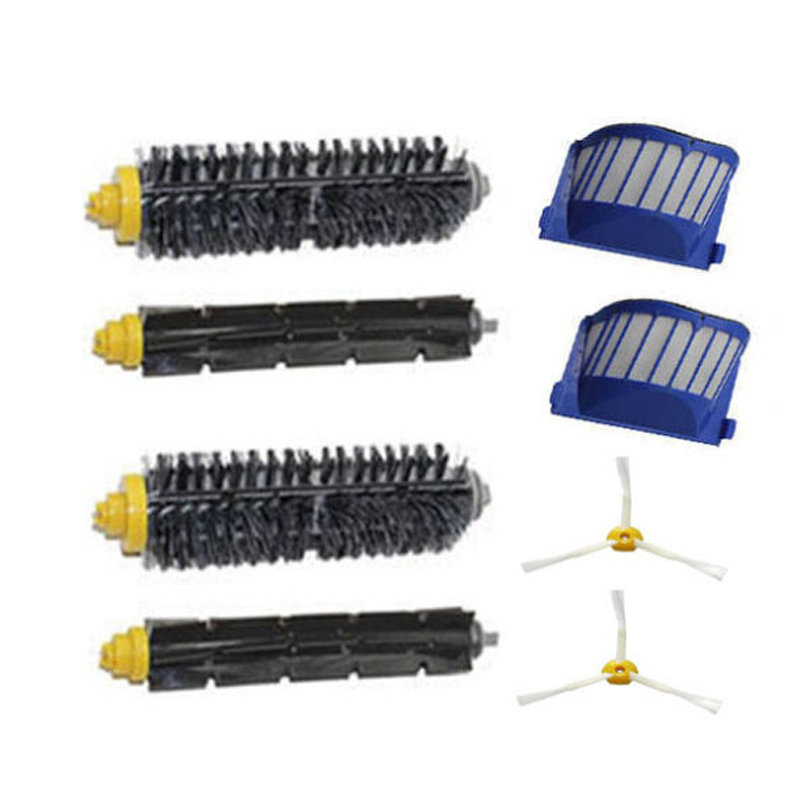 Aero Vac Filter + 3 arm Brush kit for iRobot Roomba 600 Series 620 630 650 660 подушка classic by t classic by t mp002xu0dudn
