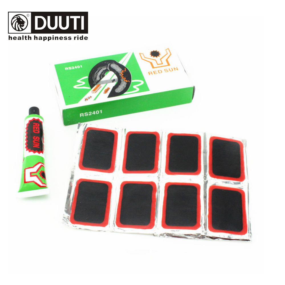 DUUTI 48pcs Bike Tire Bicycle Kit Patches + Repair Glue Tyre Tube Rubber Puncture Bicycle Repair Tools 35*24mm For Car Tire