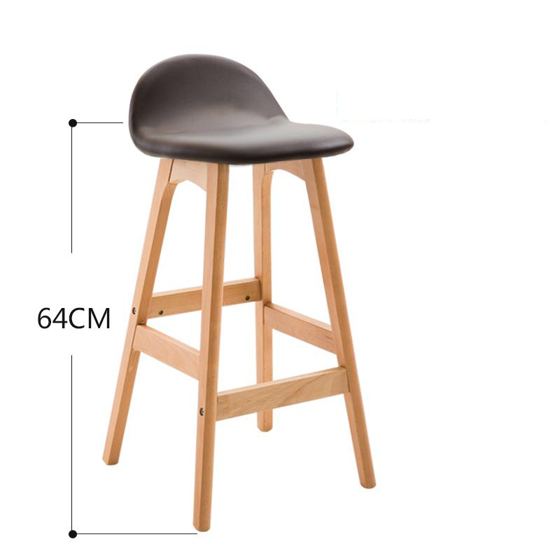 Bar Chairs Responsible Bar Stool Nordic Modern Minimalist Home Solid Wood Bar Stool High Stool Bar Chair Bar Stool Backrest Leisure Chair 2019 New Fashion Style Online