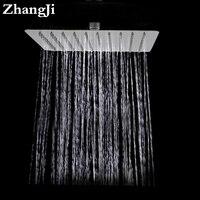 Cuarto de baño montado en la pared grande precipitaciones cabezal de ducha de 10 pulgadas de acero inoxidable cuadrado ducha Simple 25 cm cascada ducha superior ZJ050