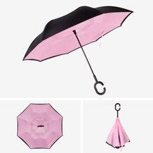 Зонт с двойным слоем от солнца женские зонты дождя и обратного
