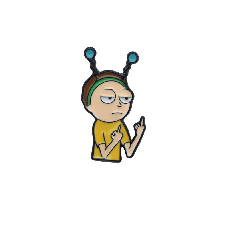 331bc2765d697 US $2.49 |P1403 Dongmanli TV jewelry clothing accessories metal enamel Tiny  Rick Rick & Morty Lapel Pins Badge Brooch-in Brooches from Jewelry & ...