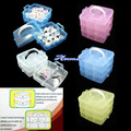 MULTI PLASTIC Storage Empty 3 layer BOX CASE NAIL ART CRAFT MAKEUP Box