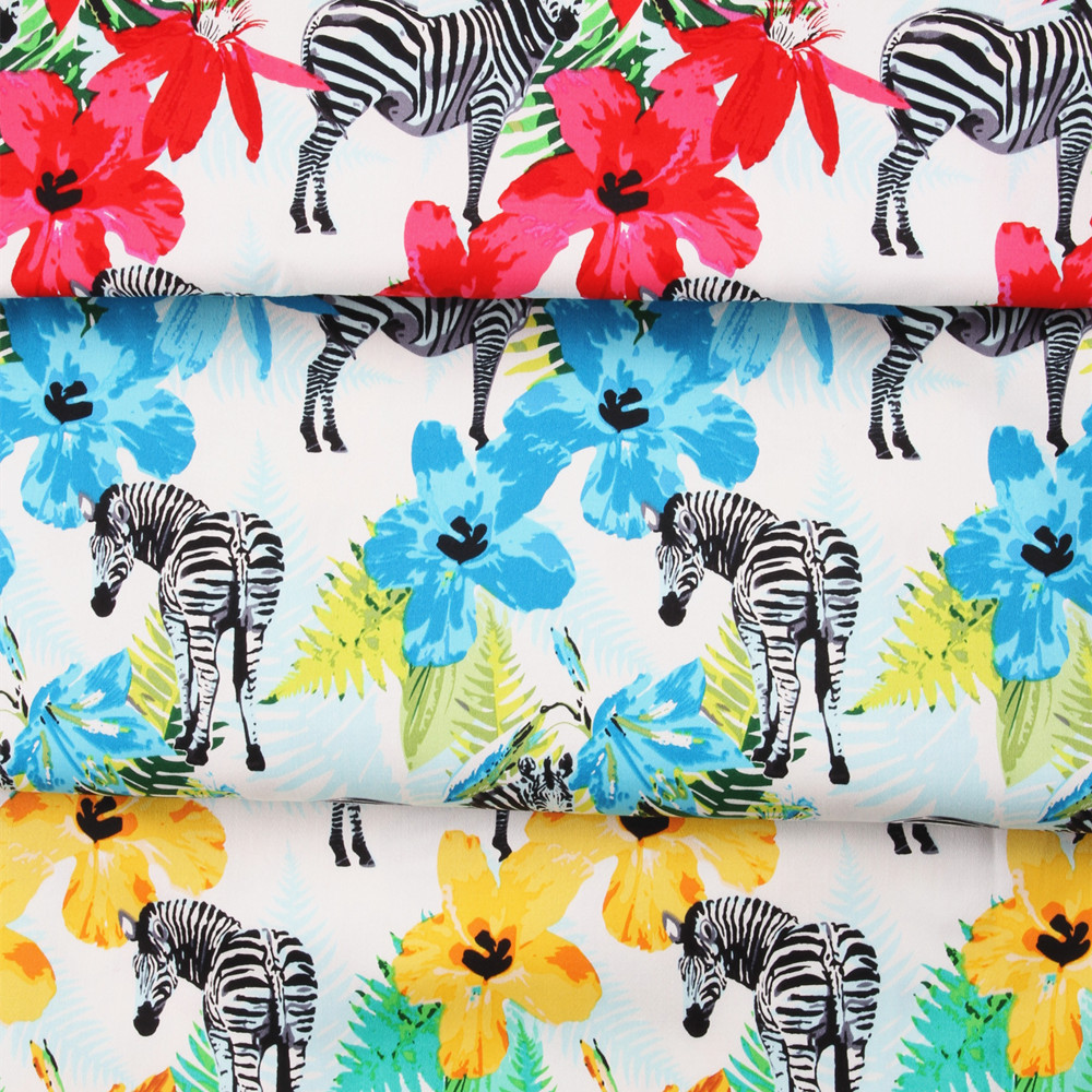 zebra design vintage fabric Retro style fabric Calico Printed cotton fabric  for DIY Bag 1 order=50cm*140cm