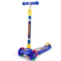Disney Микки алюминиевого складной kickboard скутер для детей нога 3 Колеса Самокат детский