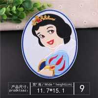 Prinzessin Serie Cartoon Patch Applique Stickerei Kind Kleidung Aufkleber Dekoration Ding Boutique Weißen Schnee Prinzessin Aufkleber