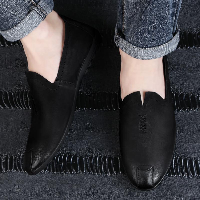 2018 nowy styl mężczyzna przypadkowych butów mokasyny czarny - Buty męskie - Zdjęcie 2