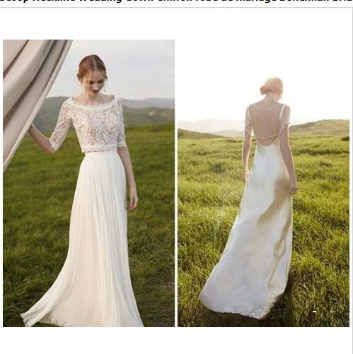 vestidos de novia dos piezas encaje – mini vestidos