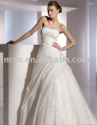 Fast Free shipping wholesales a-line sweet heart bridal wedding dress