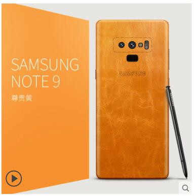 for samsung galaxy note 9 genuine leather case  insert a 360 degree  ultra-thin all-Leather sticker case for samsung note 9 case