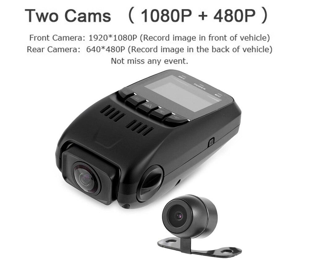 imágenes para B40D 1080 P Full HD Lente Dual Del Coche DVR 170 Grados de Amplio Ángulo de Condensador de alto rendimiento de Vídeo Grabadora Novatek 96655 + AR0330 + Cámara de Visión Trasera
