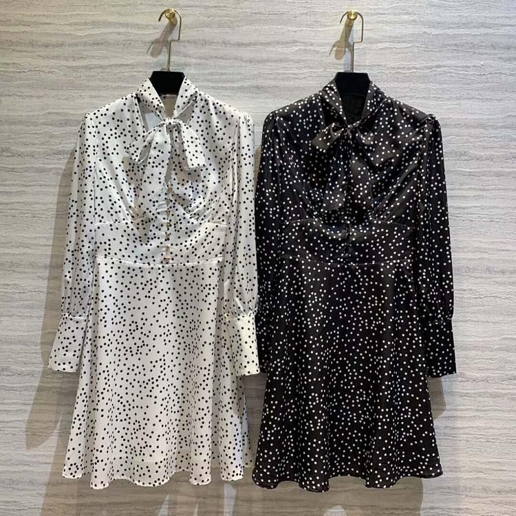 女性ファッション 2019 ドットドレス at190103  グループ上の レディース衣服 からの ドレス の中 1