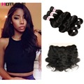 Grade 8A Ear To Ear Lace Frontal Closure With Bundles Vip Beauty Hair With Frontal 4PCS Malaysian Body Wave With Closure