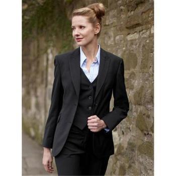 Custom Made Black Womens Business Suits Evening Ladies Office Uniform Elegant 3 Piece Tuxedo B261