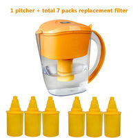 10 Cup Everyday BPA Free Alkaline Ionizer Water Filter Pitcher with 7 Replacement Filters Mineral Water Alkalizer Pitcher