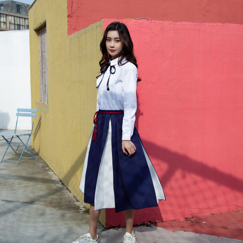 Summer School Uniform Suit Women Graduation Class Uniforms College Style Korean Version Junior High School Students Set H2434