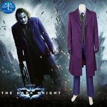 MANLUYUNXIAO New Men's The Dark Knight Joker Costume Halloween Cosplay Costume For Men Custom Made Men Full Set цены
