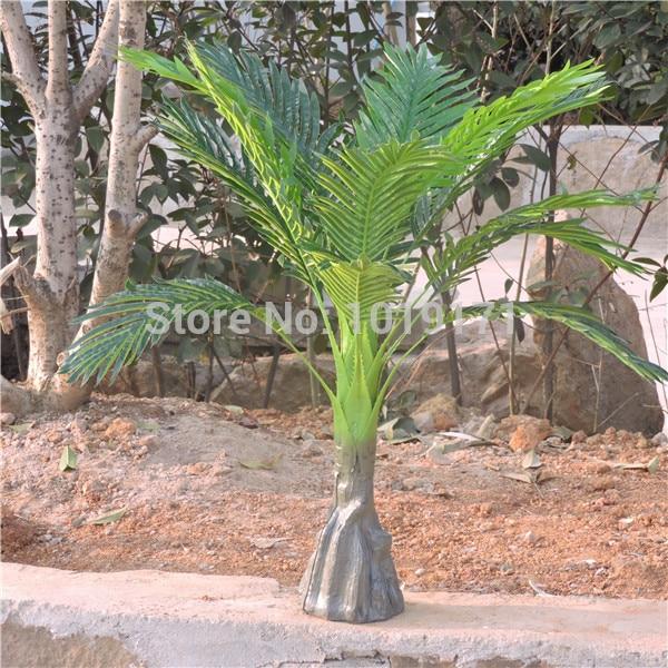 Large 86 CM Latex 2pcs Artificial Phoenix Bamboo Palm Plant Tree Wedding Home Patio Sago Office Furniture Decor F482