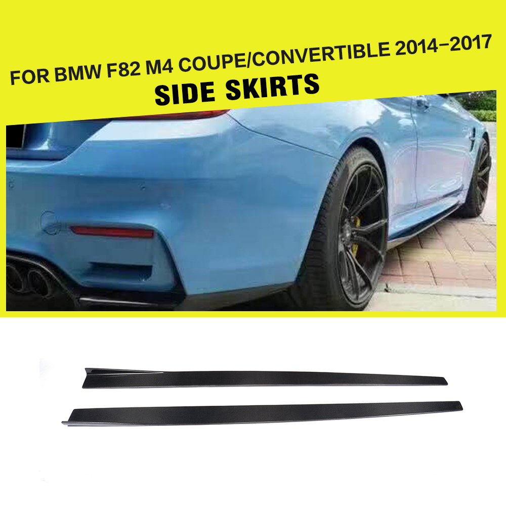 F82 m4 car styling carbon fiber side skirts apron lip for bmw f82 m4 coupe