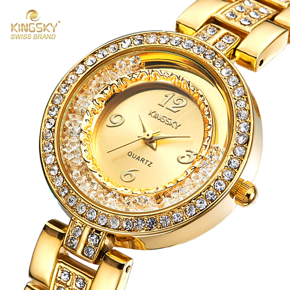 watches kiss crystal white inlaid quartz dial wat watch