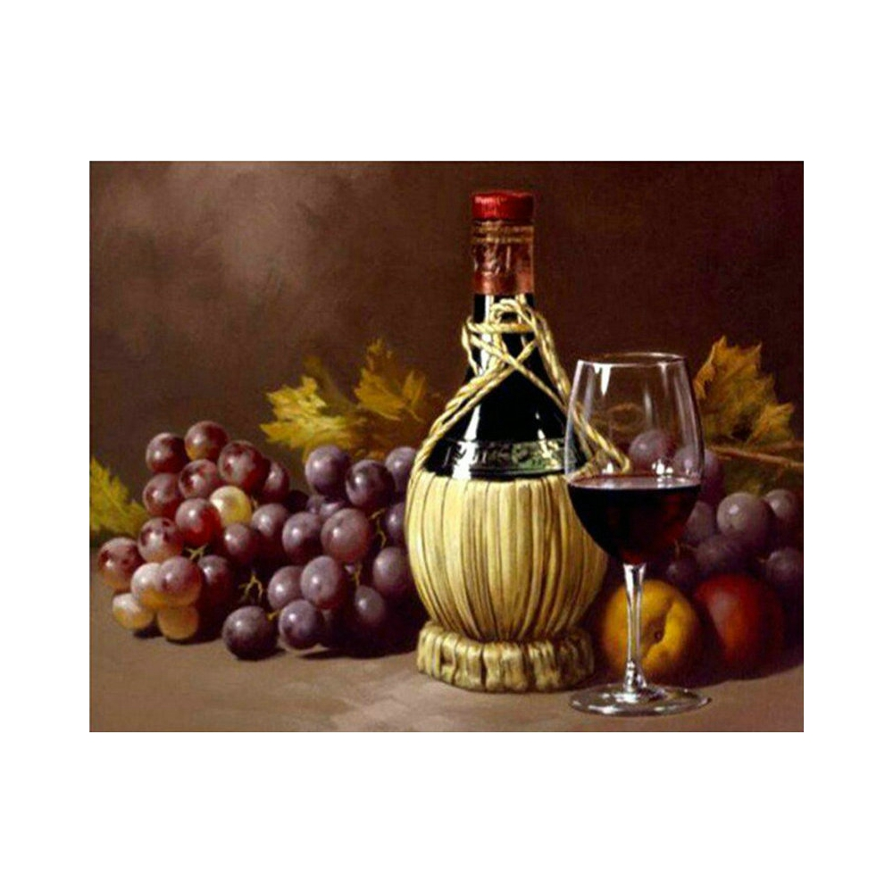 Diamond Embroidery Fruit wine Diamond Painting Cross Stitch Suite 5D DIY Full square, round Mosaic Decoration BV683