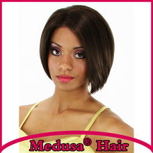 Medusa hair products: African american Synthetic wigs Charming bob styles medium length straight Mix color Afro Mono wig SW0247