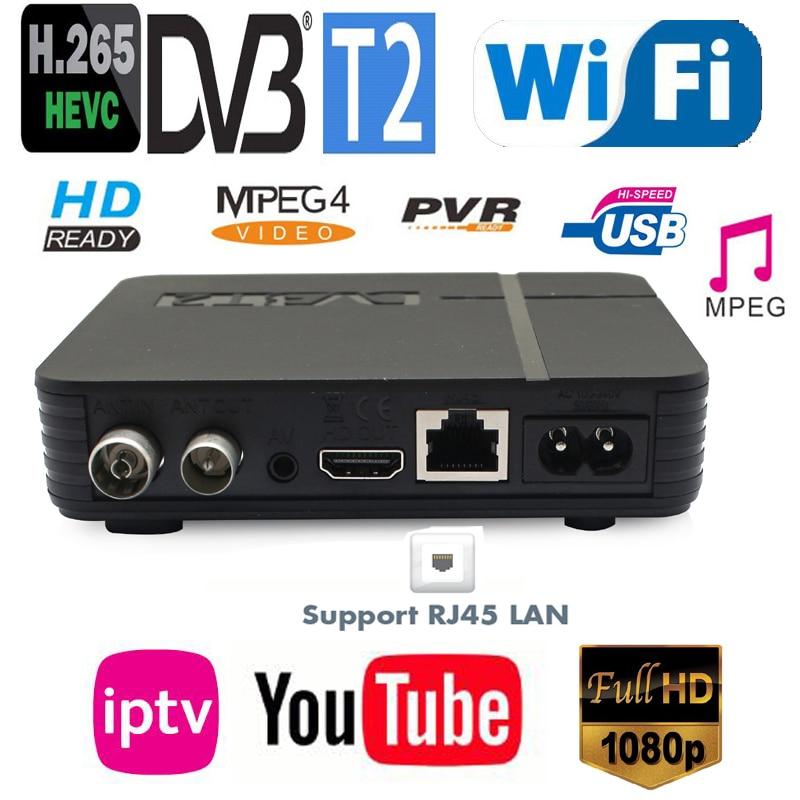 Mini New DVB-T2 H.265/HEVC Full Compatible DVB-T/H264 DVB T2 H265 Hevc Dolby AC3 IPTV Youtube Terrestrial Digital Tuner K2 MAX