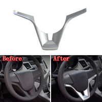 Chrome 1Pc Silver Interior ABS Steering Wheel Cover Decor Trim Frame Decoration For Chevy Cruze 2010