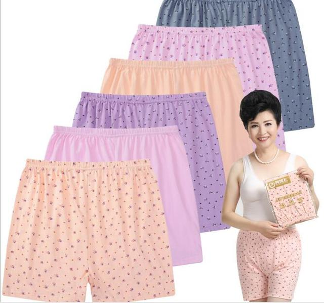 2d41d9fcf5db Cotton Mother underpant Middle-aged And Old Underwear Women's High Waist  Panties Comfortable breathe freely Big Yards AB018