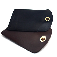 15x10cm Bag Flip Cover Leather Replacement Bag Accessories with Lock Handmade DIY Handbag Shoulder Bag Parts Black Coffee KZ0096