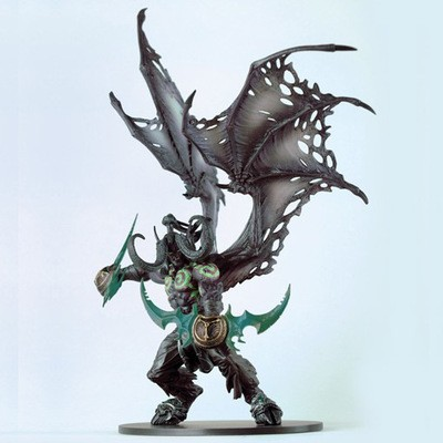 Wow Demon Hunter Action Figure DC Unlimited Series 5 22cm Deluxe Boxed Demon illidan Stormrage WOW PVC Figure Toys world of 13 deluxe action figure maraad no box wow